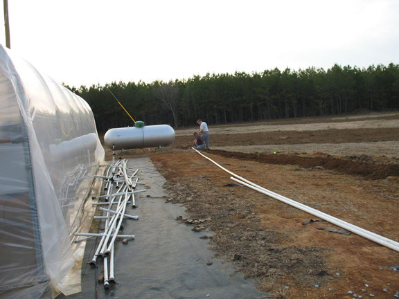 farm irrigation installation